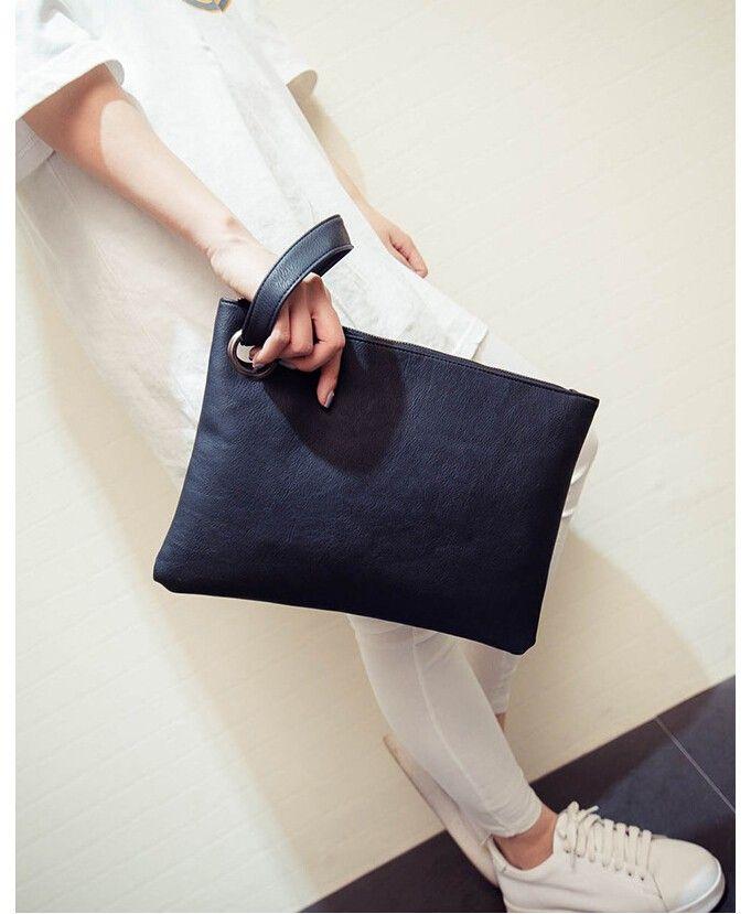 Fashion solid women's clutch bag leather women envelope bag clutch evening bag female Clutches Handbag free shipping #Clutch_Bags, #Handbags
