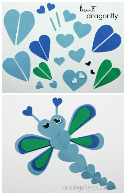 Lots of Heart Shaped Animal ideas ~ simple Valentines Day craft