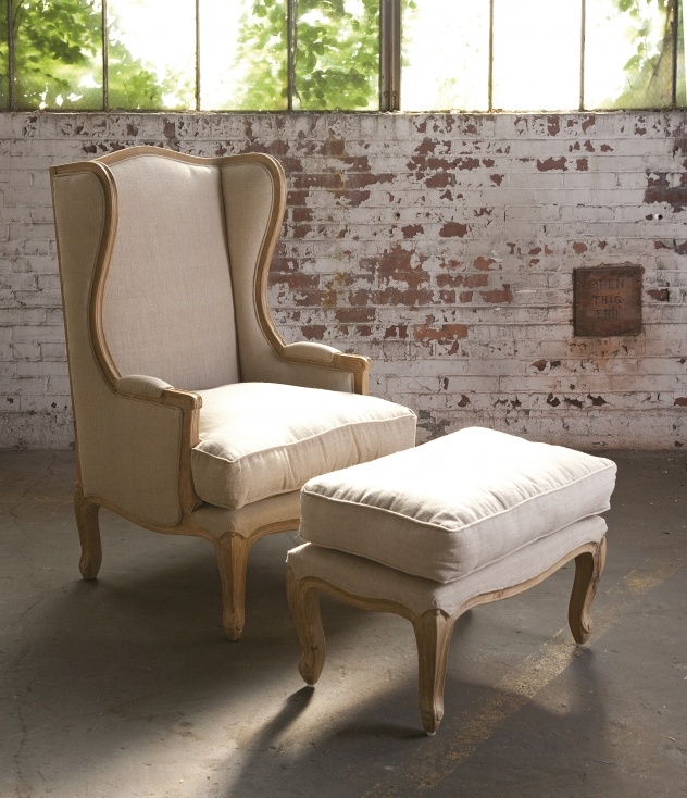 French Country Chair And Ottoman