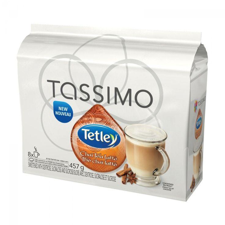 Tassimo Tetley Chai Tea Latte 8/8 T-Discs | A classic #tetley chai tea latte, brewed instantly with your #Tassimo brewer! #tdisc #tea #latte