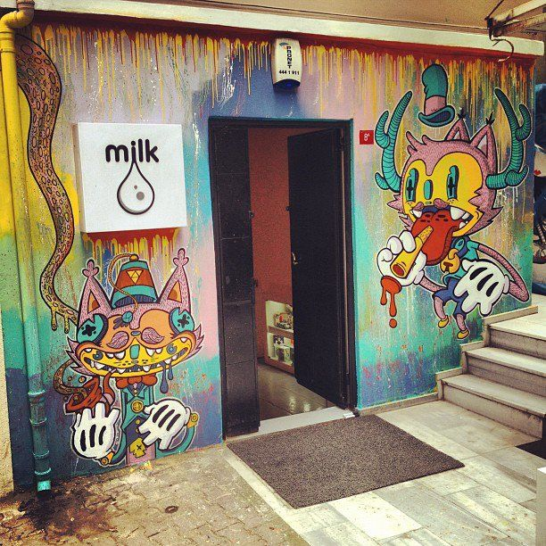 Milk Gallery Istanbul Mural by ~skaffa on deviantART
