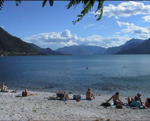 A Beach In Dorio Lake Como Spiaggia Lago Di Italy Lakecomo My Far Away Home 2018
