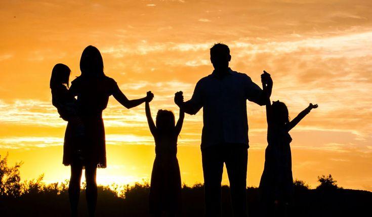 Familia para demostrar lo bueno de la vida