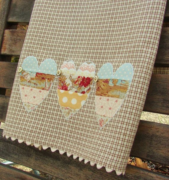Valentine Tea Towel Shabby Chic Quilters by TwoGirlsLaughing