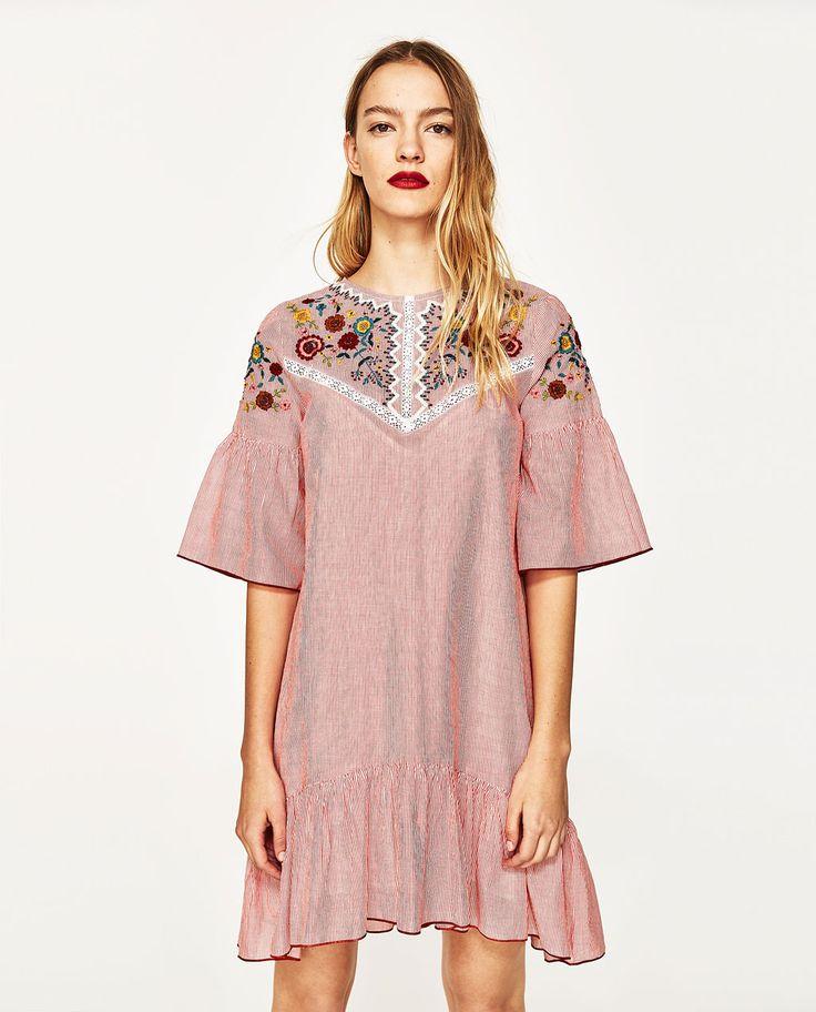 Zara kleid aus wildleder