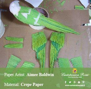 Crepe paper bird (work in progress) by Aimée Baldwin (USA)