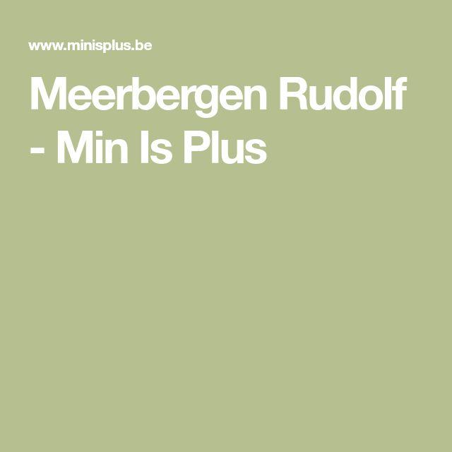 Meerbergen Rudolf - Min Is Plus
