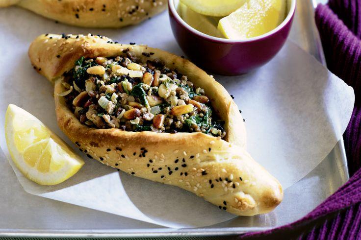 Spinach And Lamb Pides Recipe - Taste.com.au