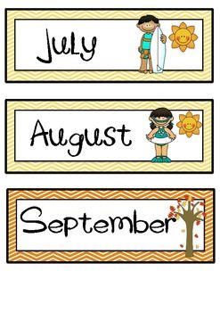 MONTHS OF THE YEAR FLASHCARDS WITH AMERICAN SEASONS - TeachersPayTeachers.com