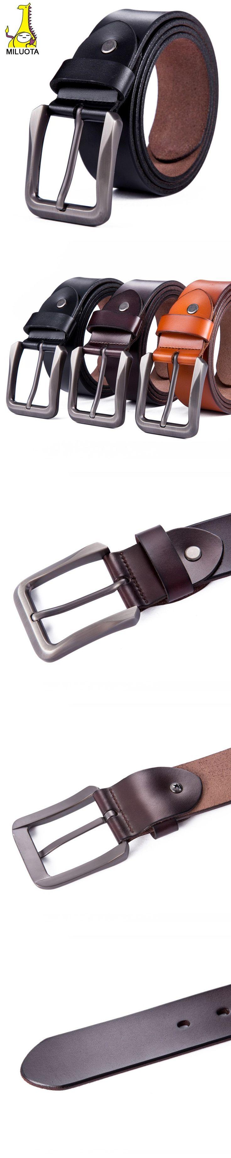 [MILUOTA] 2015 Fashion mens belts luxury genuine leather belt men cinto designer belt buckle hiqh quality ceintures homme WND002 $21.13