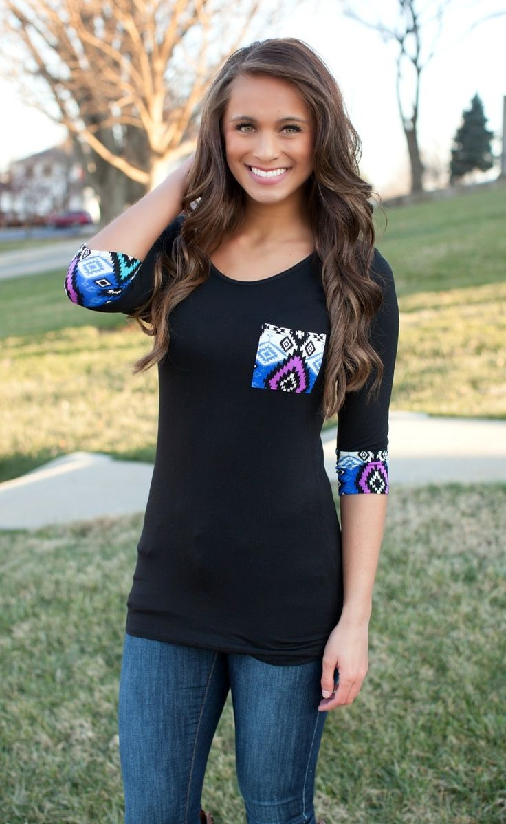 The Pink Lily Boutique - Native Lines Blouse, $34.00 (http://thepinklilyboutique.com/native-lines-blouse/)