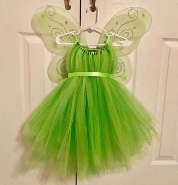 Tinker Bell kostuum Fairy Wings groene door CraftyMindsBoutique