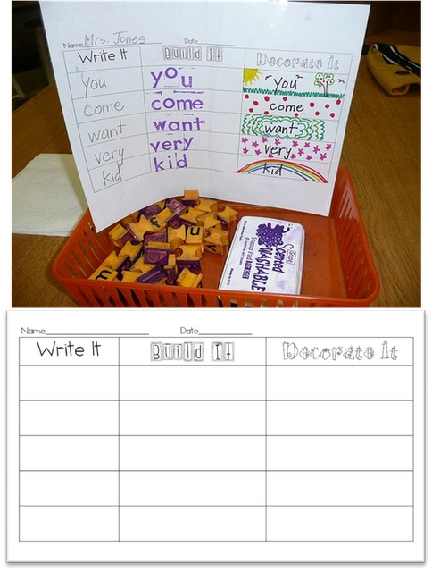 Working with Words...write it, build it, decorate it!