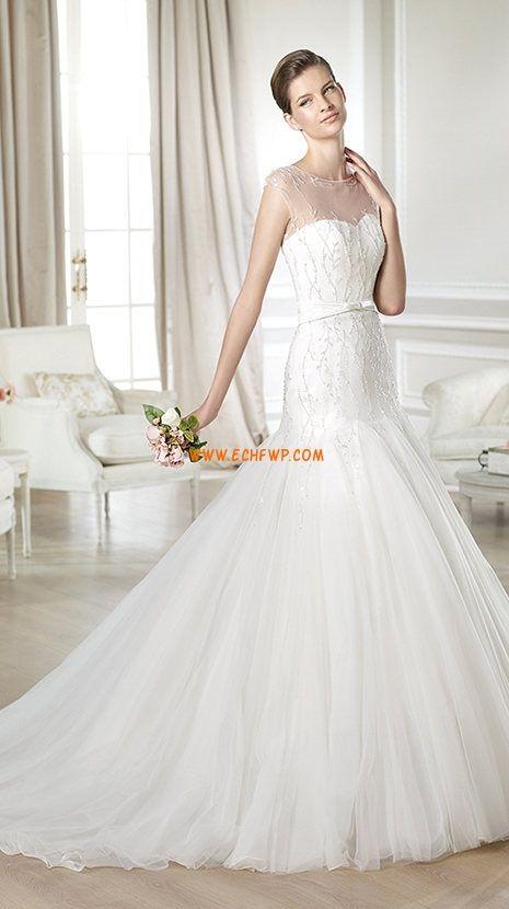 Jaro 2014 Bez rukávů Zip Svatební šaty 2014