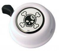 black skull white bell