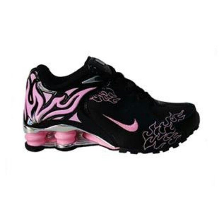 Nike shox torch pink on black