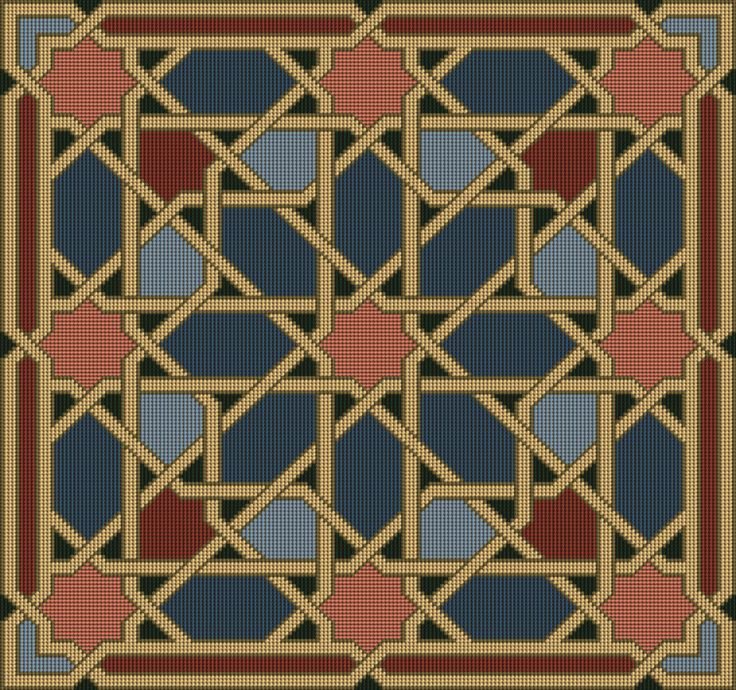 """""""Antique Tiles"""" uses the """"Isfahan"""" design in a deliciously muted colourway."""