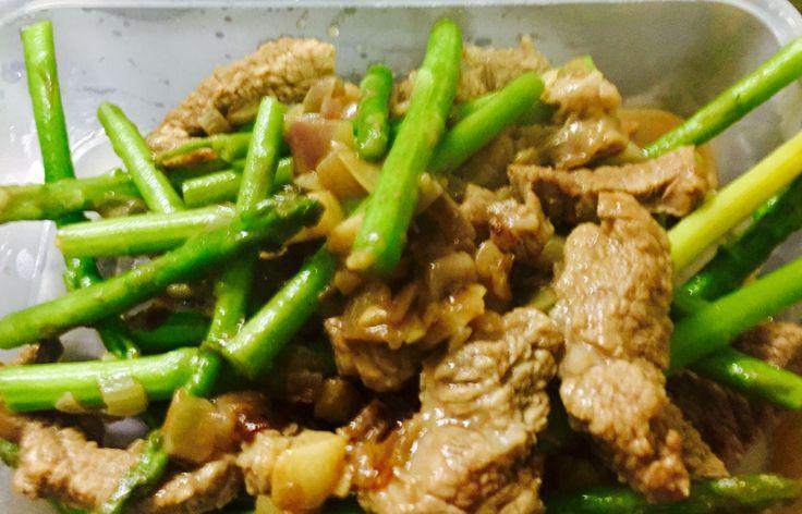 Tenderloin Tips with Asparagus