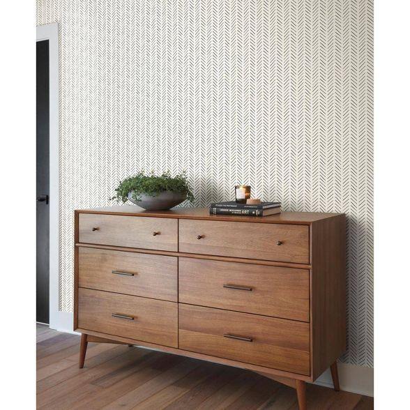 Roommates Pick Up Sticks Magnolia Home Wallpaper Cream Magnolia Homes Peel And Stick Wallpaper Home Wallpaper