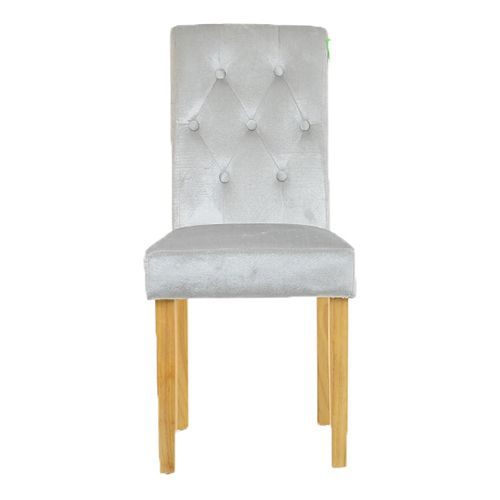 LANGFORD DINING CHAIR GREY VELVET The Langford Dining Chair Is Fully  Upholstered And Features A Comfortable