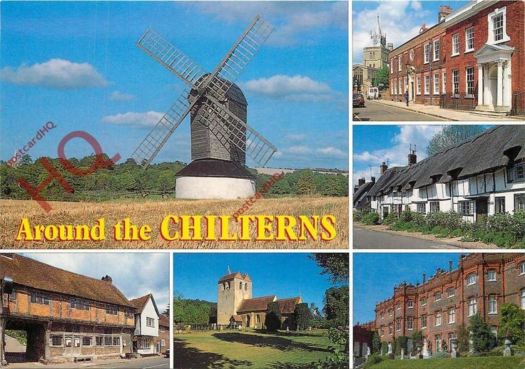 Postcard: Around The Chilterns (Multiview) Pitstone Mill | eBay