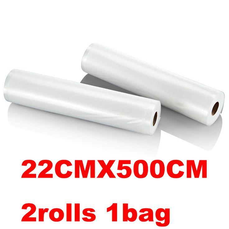 Glantop 22 cm * 500 cm Tas Vakum untuk Makanan Penyimpanan Kemasan 2 Gulungan PA + PE Makanan Saver vakum Bagsbolsas plastico