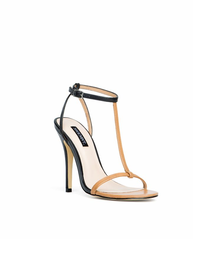 The black + tan: thin-strap heel