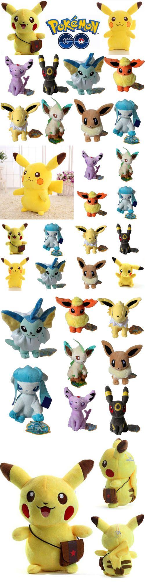 Stuffed Animals Beanbag Plush 51030: Pokemon Pikachu Eevee Collectible Plush Toy Soft Stuffed Doll Kids Children Gift -> BUY IT NOW ONLY: $37.1 on eBay!