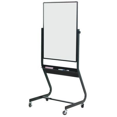 "Best-Rite Euro Porcelain Reversible Mobile Whiteboard Size: 2'6"" H x 3'4"" L"