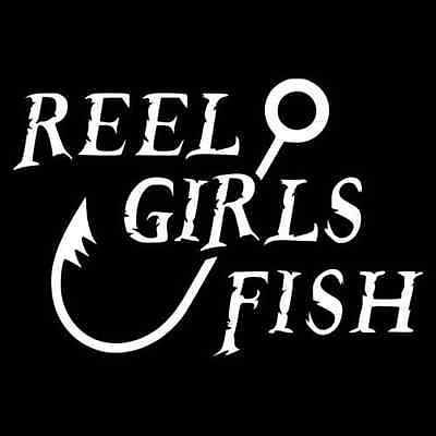 Reel Girls Fish Vinyl Decal Sticker outdoors fishing hunting south 046  | eBay