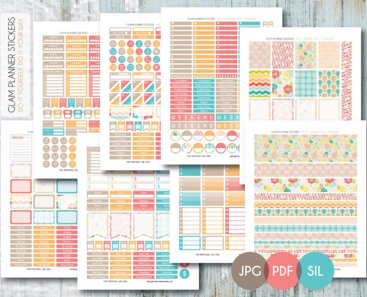 Free Monthly Printable Planner Stickers Set - Today - Erin Condren