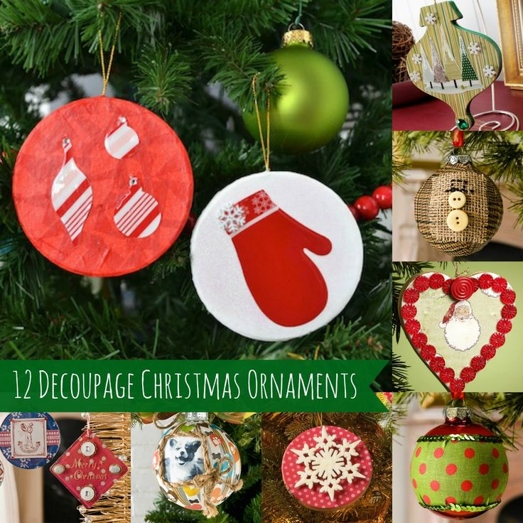 12 Awesome Decoupage Ornaments to Make Diy
