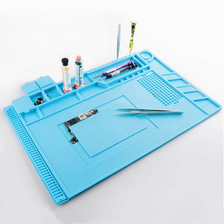 45x30cm Magnetische Wärmedämmung Silikon Auflage Schreibtisch Matte Instandhaltung Plattform Mit Magnetischem Abschnitt