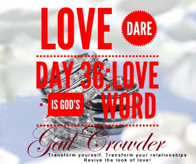 Day 36: Love is God's Word  Your word is a lamp to my feet and a light to my path.  —Psalm 119:105  TODAY'S DARE Commit to reading the Bible every day. Find a devotional book or other resource that will give you some guidance. If your spouse is open to it, see if they will commit to daily Bible reading with you. Begin submitting each area of your life to its guidance and start building on the rock.  #theonesexywife #ilovemyhusband #wifelife #marriage #lovedare