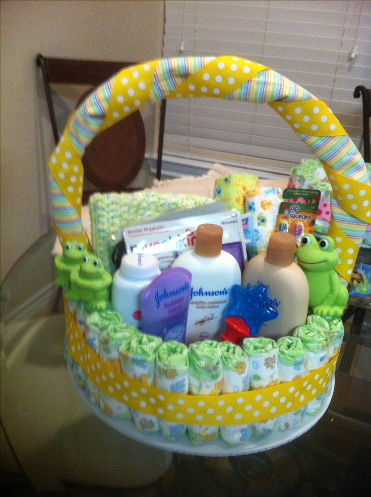 Baby Shower Gift Ideas Boy : Best ideas about diaper basket on baby