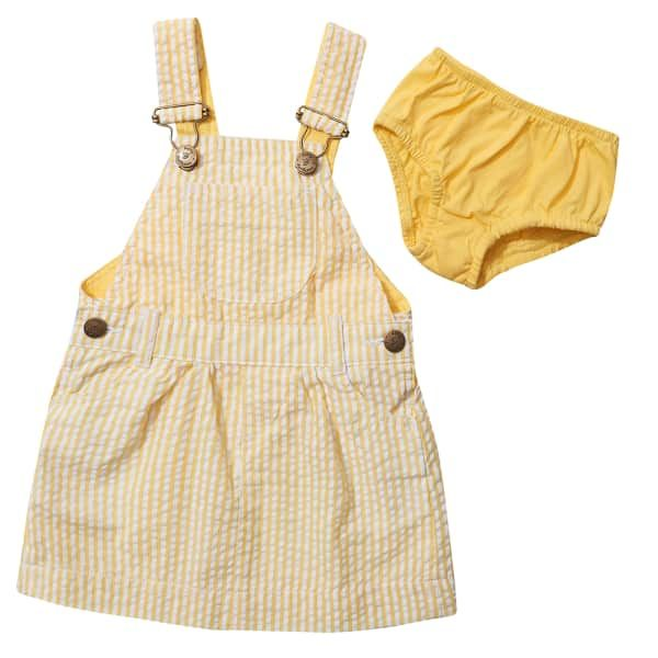 Yellow Dress | Dotty Dugarees