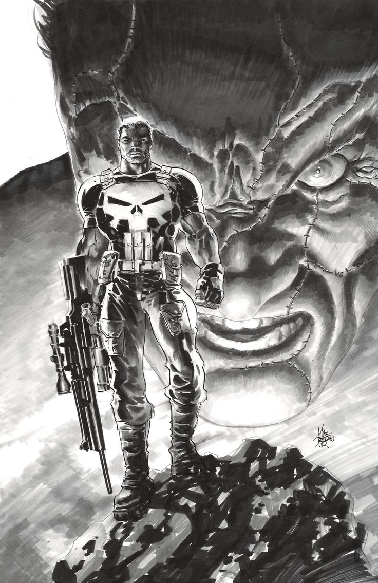 Punisher Sketch by Mike Deodato