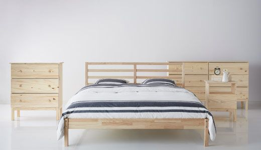 Ikea tarva series unfinished pine furniture sanded and - Unfinished solid wood bedroom furniture ...