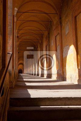 Fotobehang Portiek van San Luca, Bologna €116