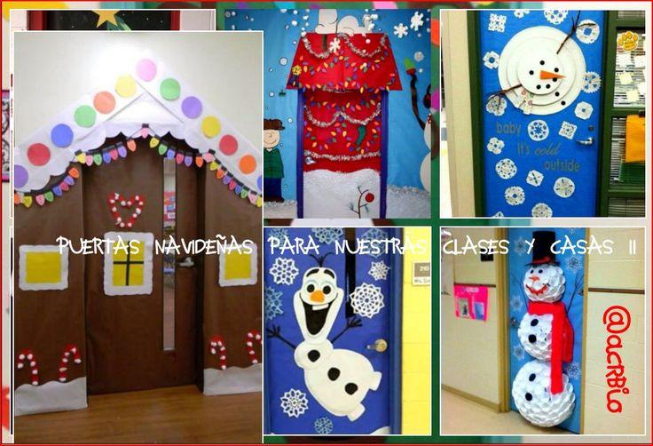 Puertas navide as para nuestras clases ii navidad - Decorar puertas navidad ...
