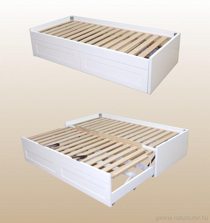 így lehet 1 személyes ágyból 2 személyes ágyat varázsolni! A matracok teljesen egymás mellé simulnak! Helytakarékos és praktikus megoldás! gysz1614558.jp