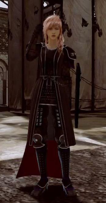 """Lightning's """"Dark Samurai"""" outfit. Lightning Returns: Final Fantasy XIII"""