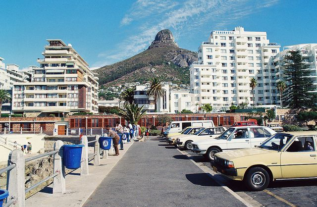 The resort at Sea Point, Cape Town, South Africa, 1995, photograph by Nick Pellegrino.