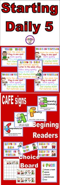 starting daily 5: By Pinterest, Cafe Signs, Start Daily, Shared Kindergarten, Language Art, Daily5, Daily 5 Cafe, Daily 5 Chart, Lessons Cloud