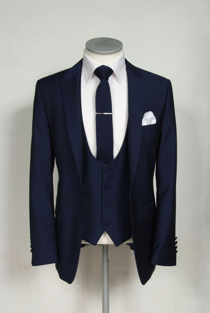 "french blue grooms wedding suit slim fit light weight wool with scoop neck waistcoat. Mens sizes from 32"" chest upward and include extra short, short, regular, long and extra long fittings. Boys sizes from 20"" to 34"" chest. Complete outfit includes jacket"