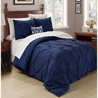 Copper Grove Tithonia 3-piece Pintuck Comforter Set (Misty Blue - Queen/Full - Queen/Full)