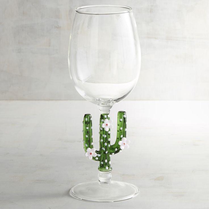 Cactus Wine Glass Green
