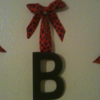 letters for Libby's ladybug room