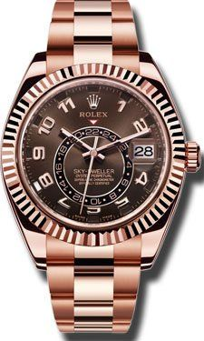 Men's Wrist Watches - Rolex Sky Dweller Sundust Dial 18kt Everose Gold Mens Watch 326935 * Read more reviews of the product by visiting the link on the image.