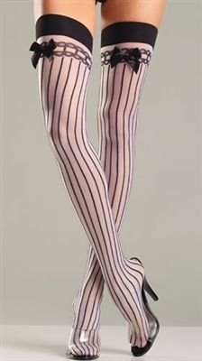 Sheer Nylon Stockings with Verticle Stripes - #goth #gothic #punk #punkrock #rockabilly #psychobilly #pinup #inked #alternative #alternativefashion #fashion #altstyle #altfashion #clothing #clothes #vintage #noir #infectiousthreads #horrorpunk #horror #steampunk #lingerie #thighhighs #fishnets #stockings #hosiery